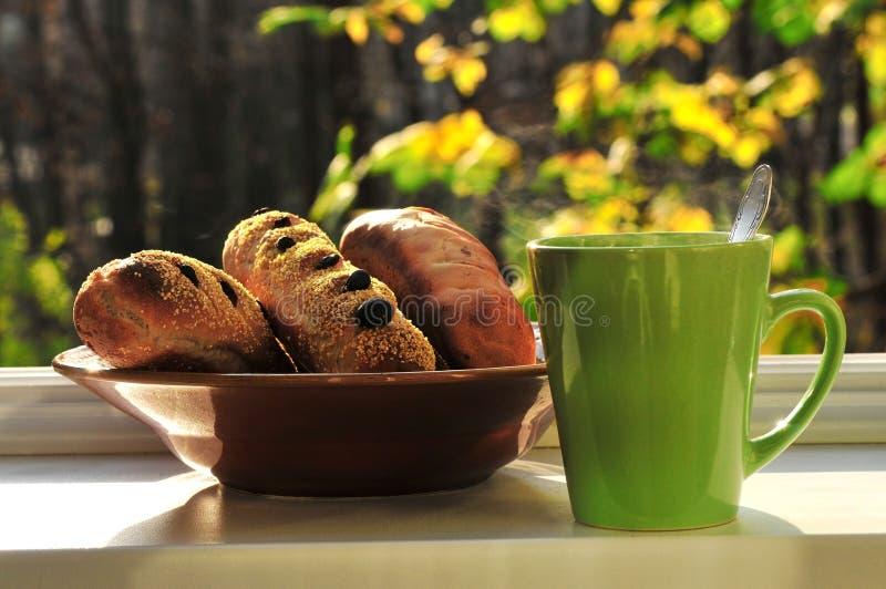 чай хлеба стоковые изображения rf