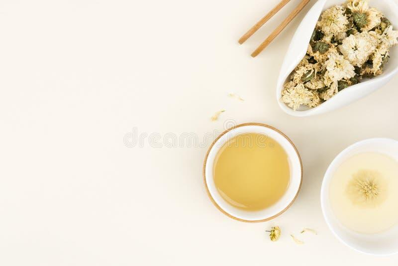 Чай хризантемы травяной стоковое изображение rf