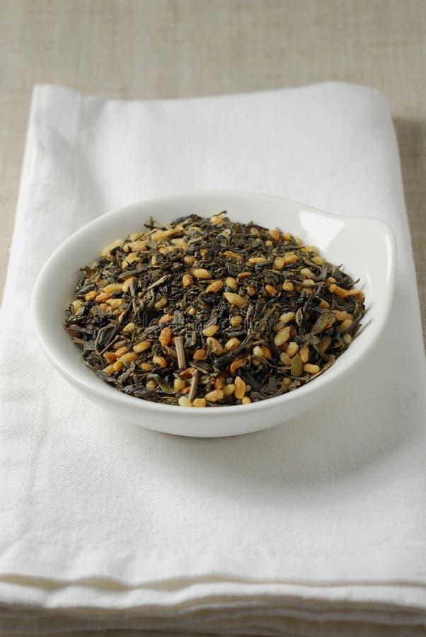 чай genmaicha стоковая фотография rf