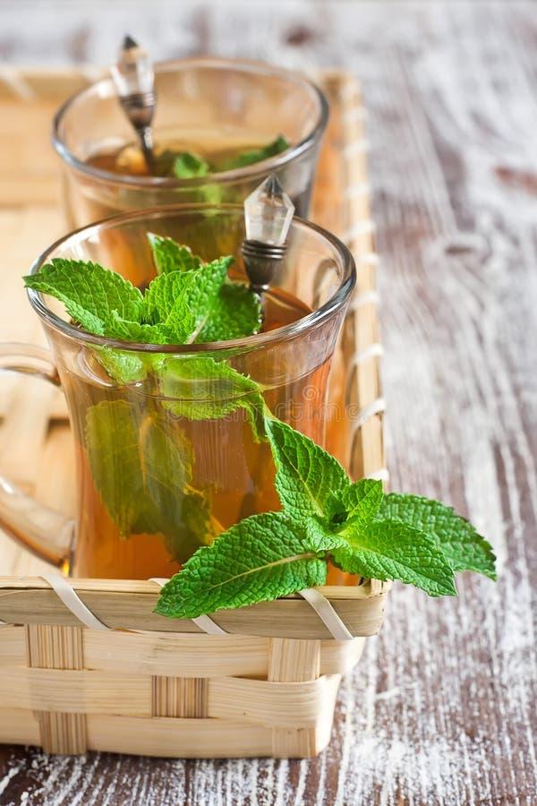 Чай Turlish с мятой стоковое изображение rf