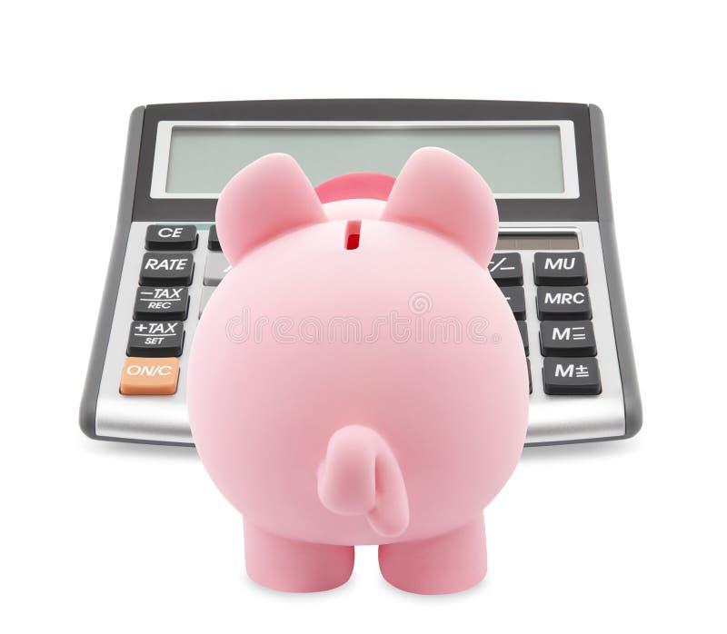 чалькулятор банка piggy стоковые изображения
