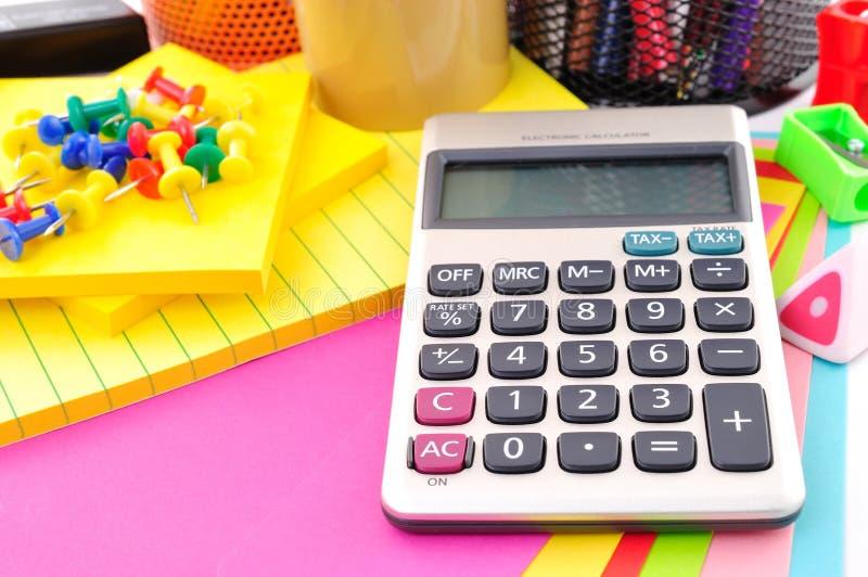 Чалькулятор в образовании стоковые изображения