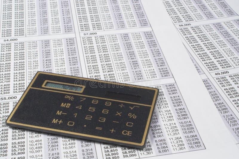 Чалькулятор дела стоковая фотография