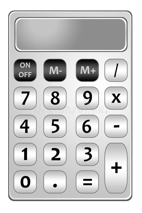 Чалькулятор иллюстрация штока