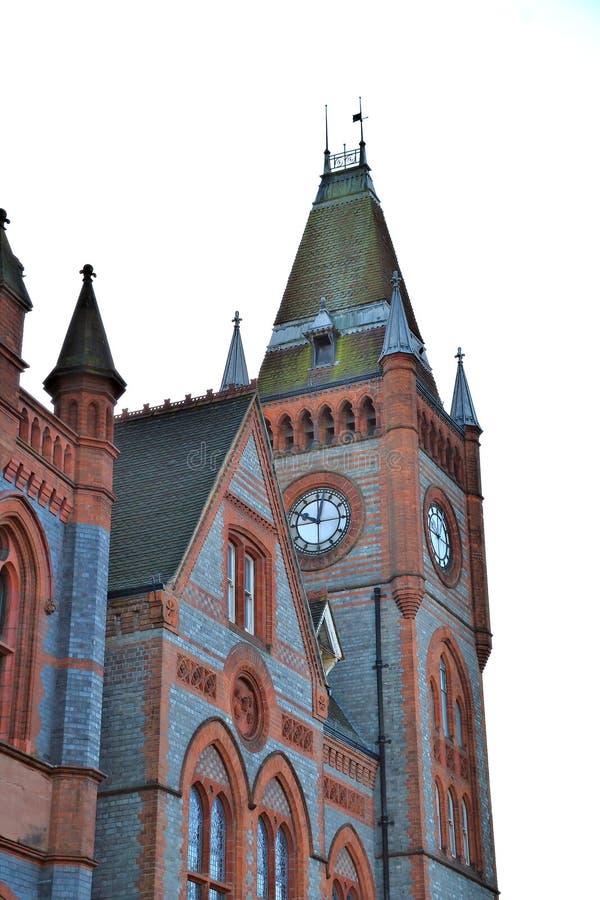 Часовая башня здания мэрии Рединг в Англии, Беркшир стоковое фото