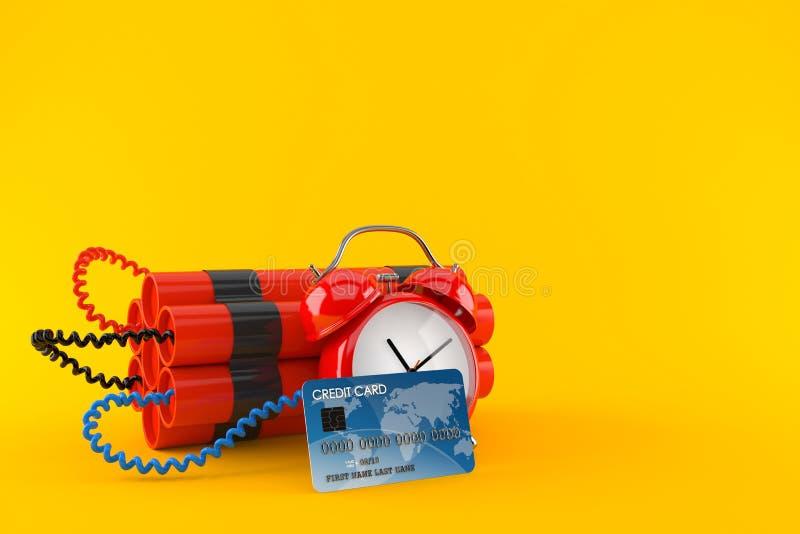 Часовая бомба с кредитной карточкой бесплатная иллюстрация
