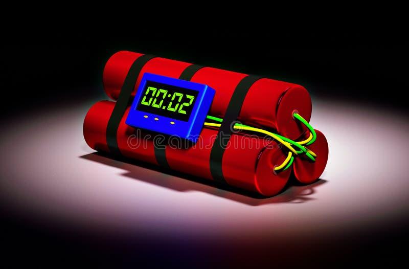 Часовая бомба иллюстрация штока
