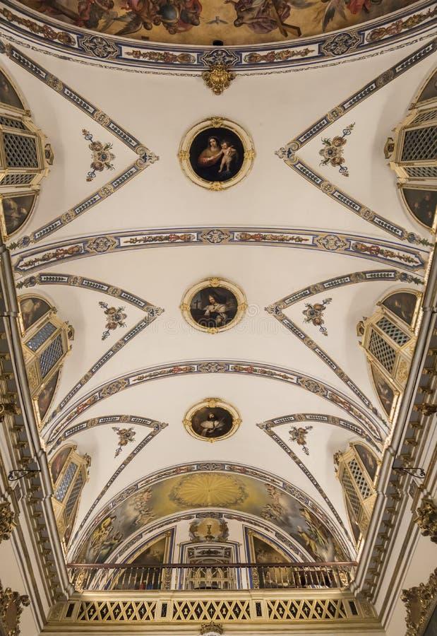 Часовня дворца Сан Telmo, Севилья, Испания стоковая фотография