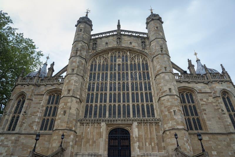 Часовня на замке Виндзор, резиденция CSt Джордж великобританской королевской семьи на Виндзор в английском графстве Беркшира, стоковые изображения rf