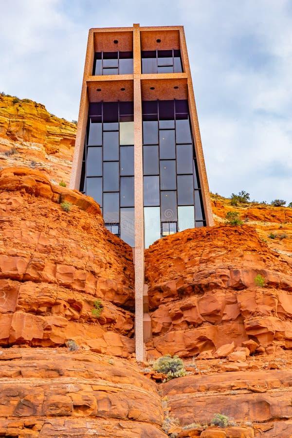Часовня святого креста Sedona AZ стоковая фотография rf