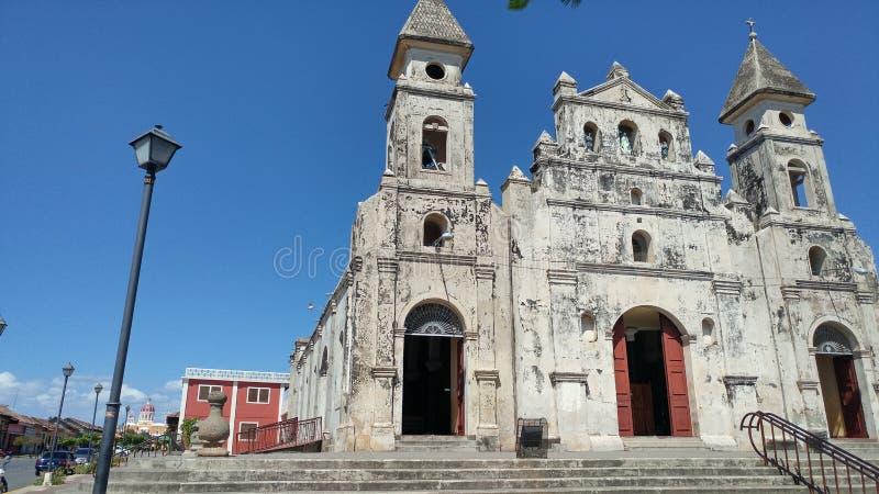 Часовня священного сердца Гранады Никарагуа стоковые фотографии rf