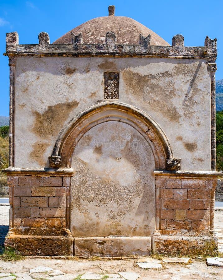 Часовня Crescentia Святого в каподастре Сицилии lo San Vito Италия стоковое фото rf