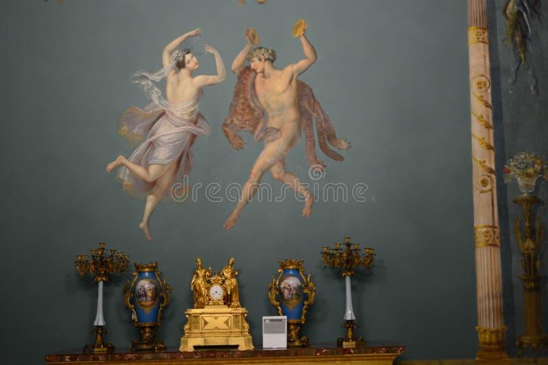 Часовня Palatine в нормандском дворце в стене Палермо Сицилии freize стоковая фотография rf