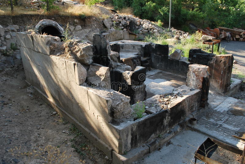 Часовня Poxos Petros в районе Котайке, Армении стоковые изображения
