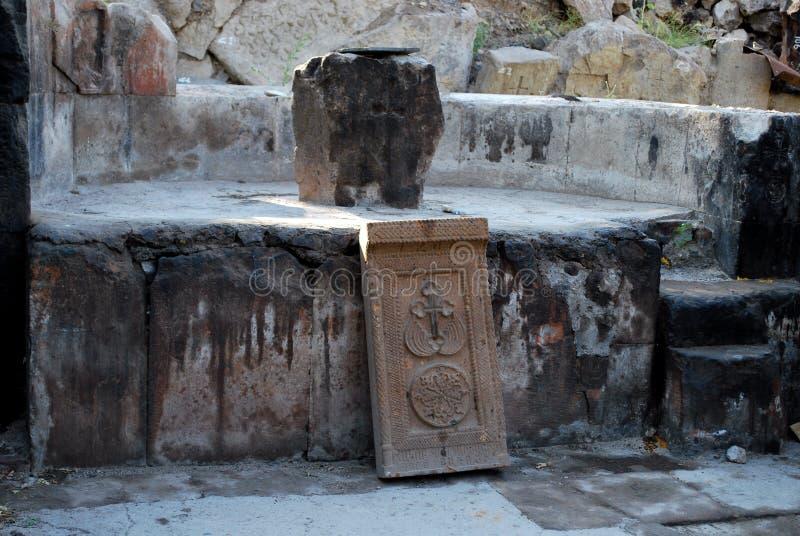 Часовня Poxos Petros в районе Котайке, Армении стоковая фотография rf