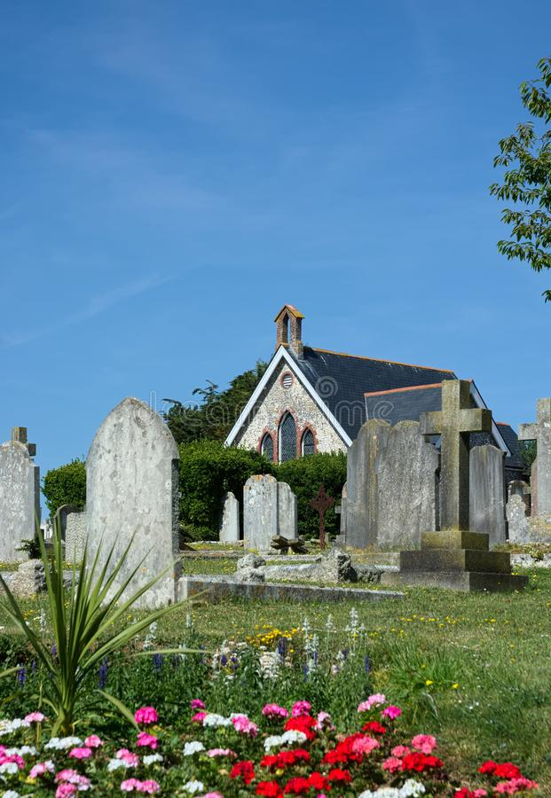 Часовня Seaford & кладбище, Сассекс r стоковые изображения rf