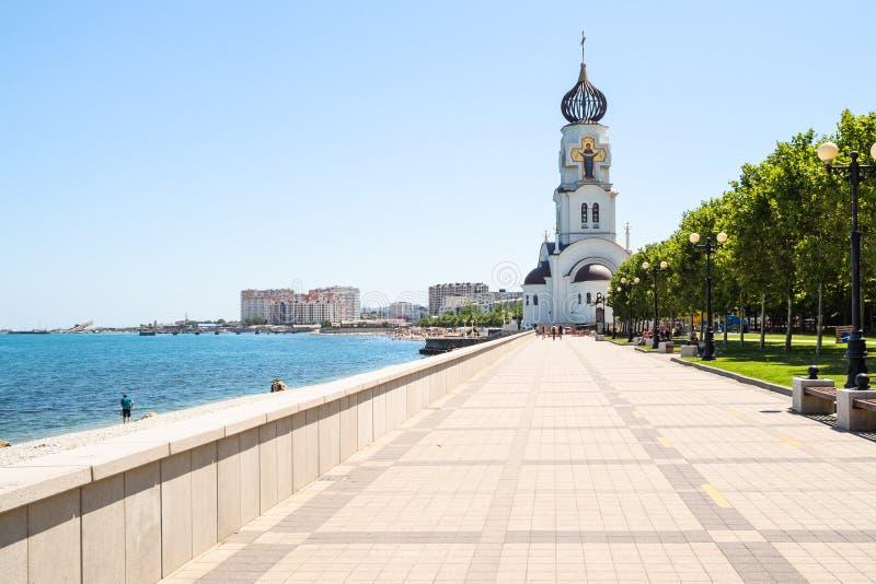 Часовня St Nicholas Wonderworker в Novorossiysk стоковые фото