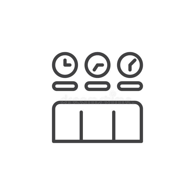 Часовой пояс хронометрирует значок плана бесплатная иллюстрация