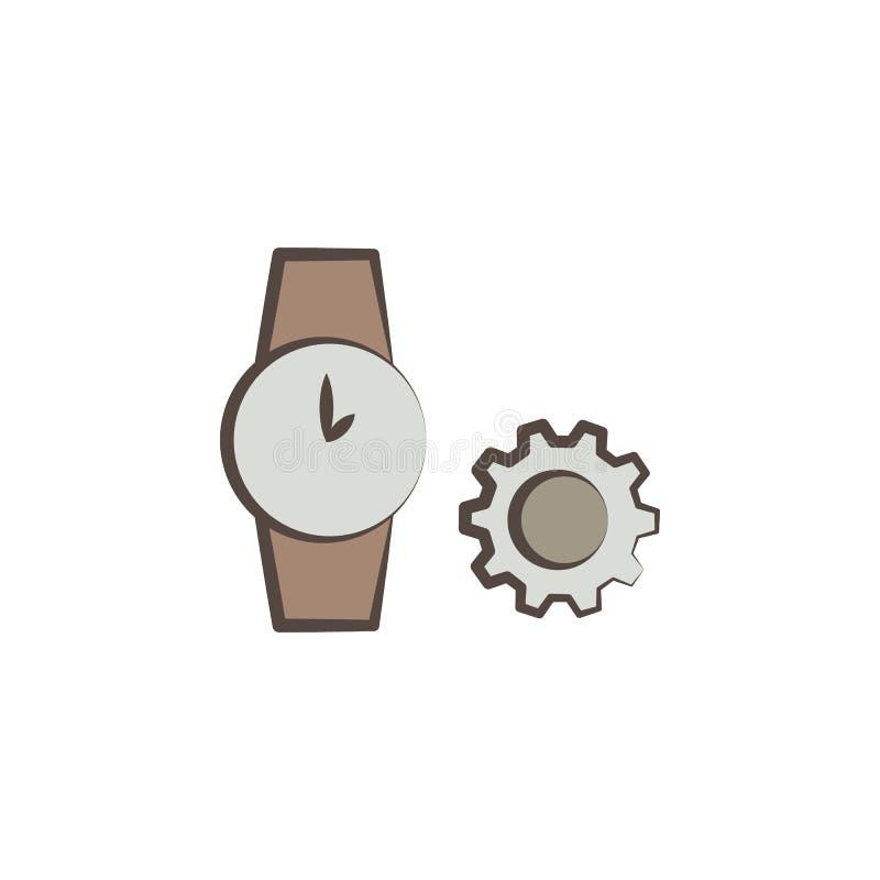 часовщик оборудует значок Элемент профессий оборудует значок для передвижных apps концепции и сети Значок инструментов часовщика  иллюстрация штока