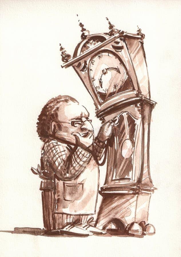 часовщик иллюстрация штока