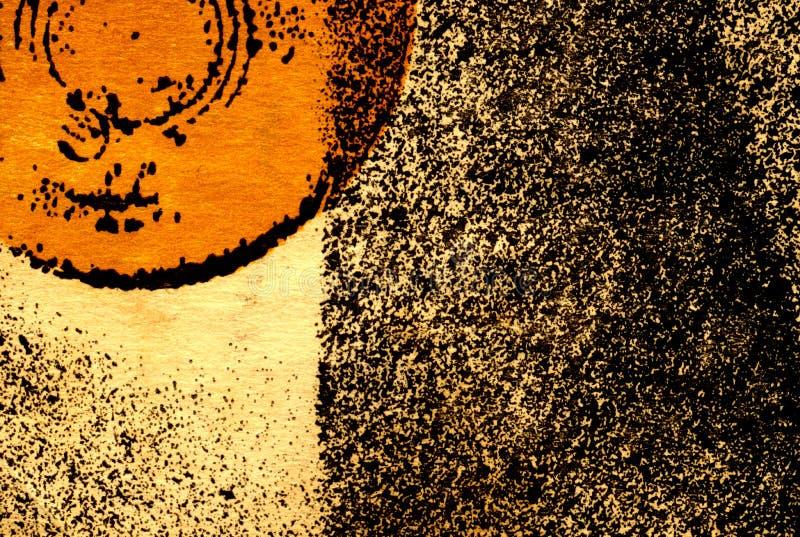 частично абстрактного круга предпосылки померанцовое иллюстрация штока