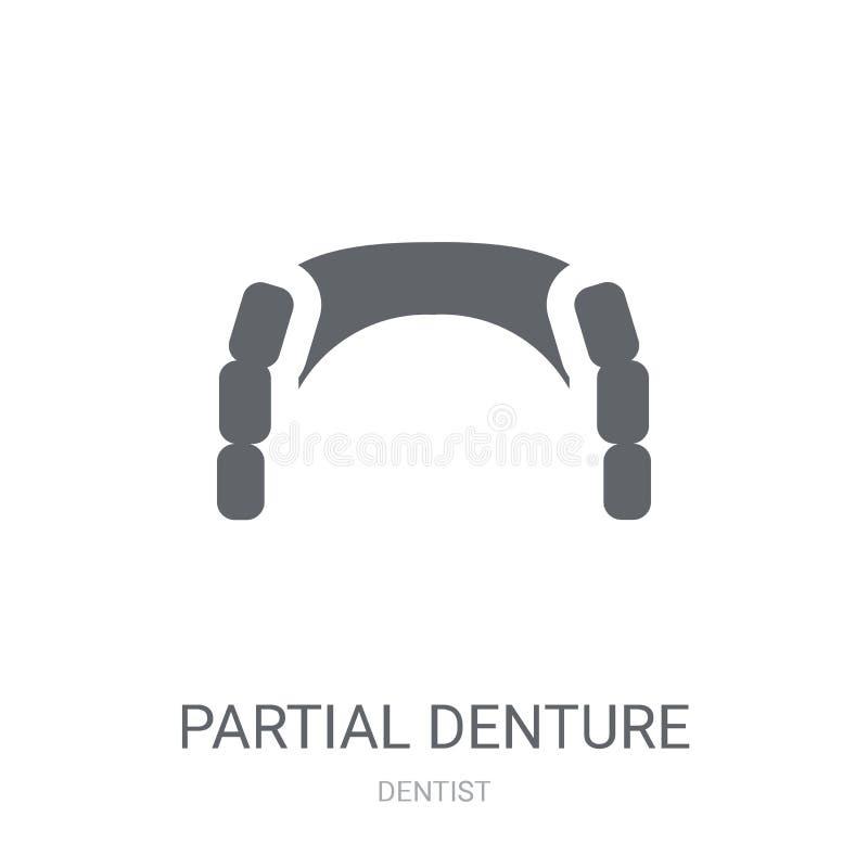 Частично значок Denture  иллюстрация штока