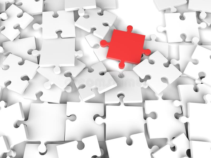 части головоломки 3d иллюстрация штока