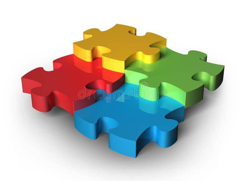 части головоломки стоковое изображение rf