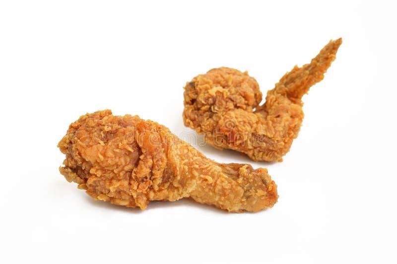 2 части жареной курицы стоковые изображения