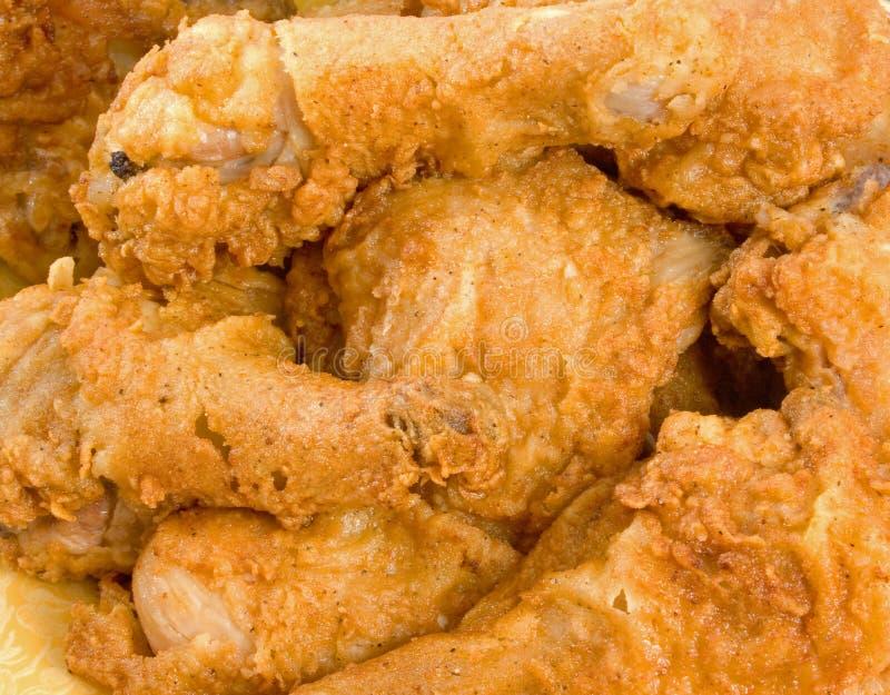 части зажаренные цыпленком стоковое фото rf