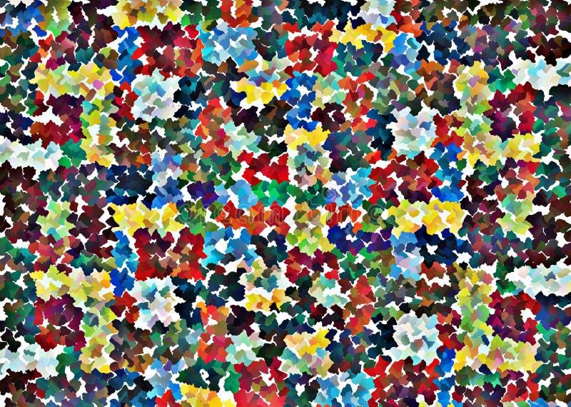 Части мозаики в различных цветах бесплатная иллюстрация
