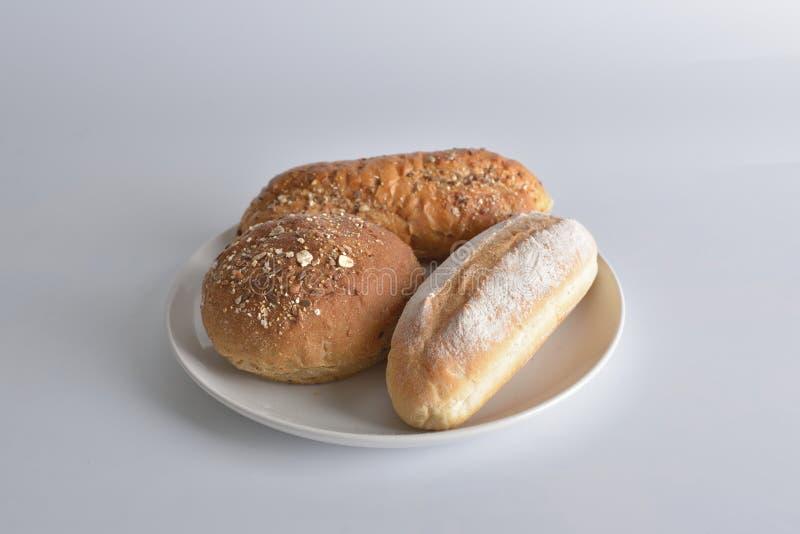3 части объекта пекарен на белой предпосылке стоковое фото