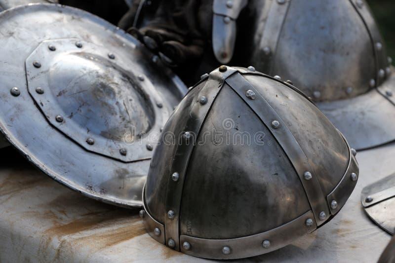 части панцыря средневековые стоковая фотография rf