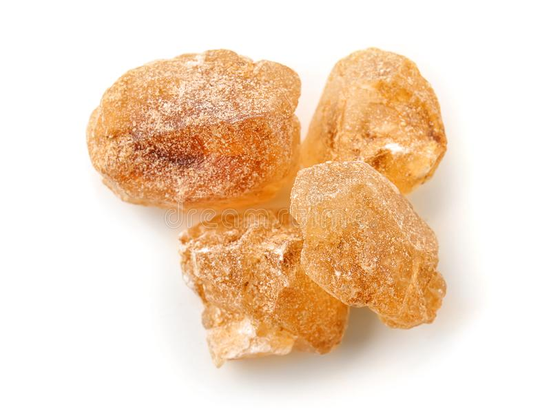 Части сахара на белой предпосылке стоковые изображения