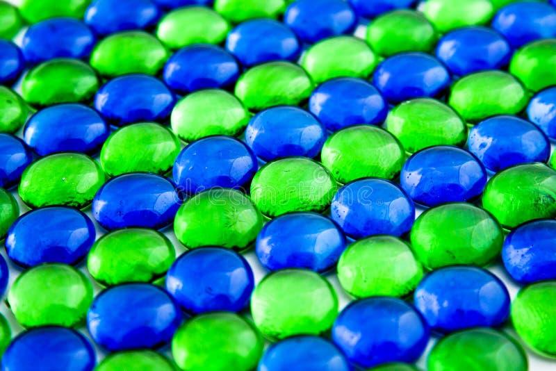части синего стекла зеленые стоковые фотографии rf