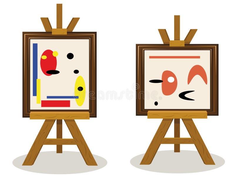 Части современного искусства иллюстрация штока