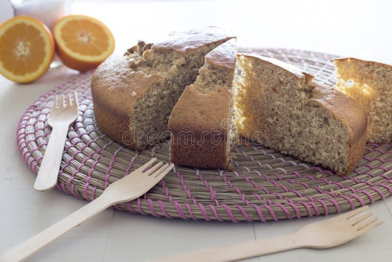 Части торта губки стоковое изображение