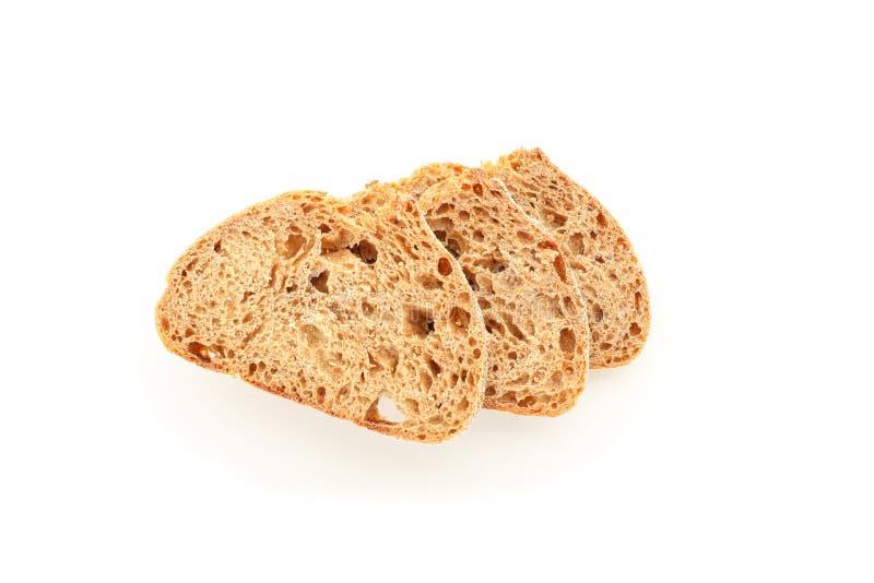 Части хлеба пшеницы изолированные на белой предпосылке стоковое фото rf