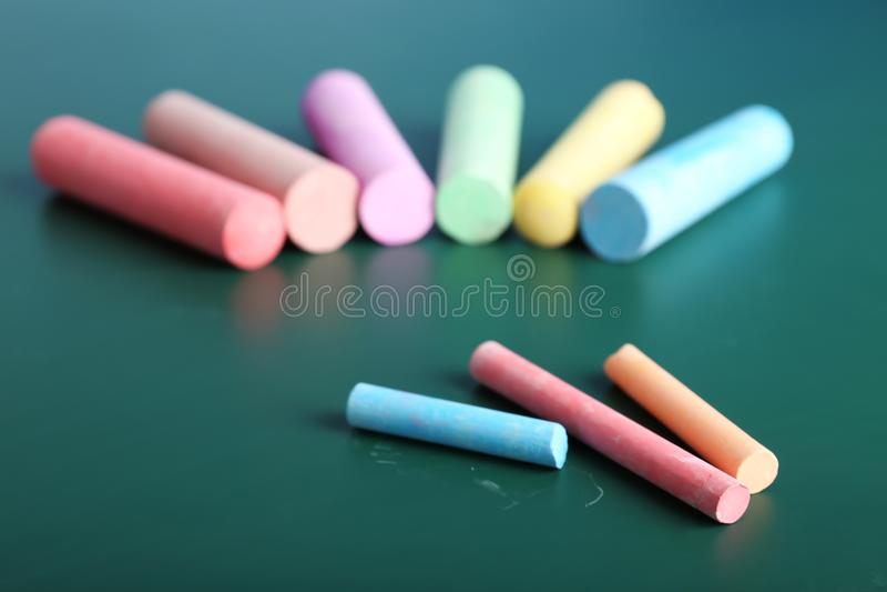 Части цвета мела на таблице, стоковое фото rf