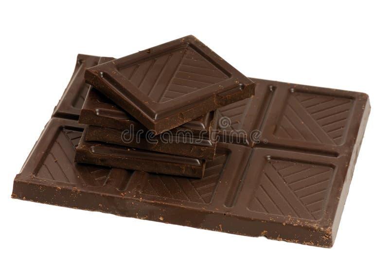 части шоколада стоковые изображения