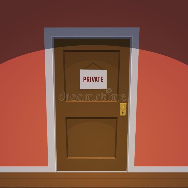 Частная комната - красный цвет иллюстрация вектора
