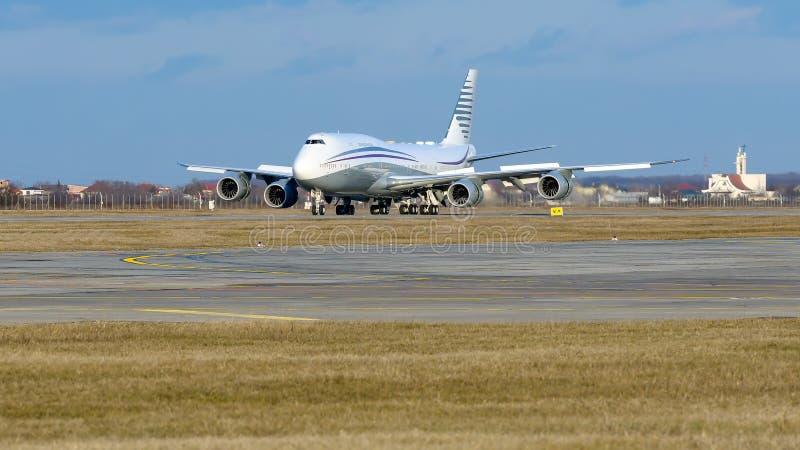 Частное громоздк двухэтажного автобуса авиалайнера аэробуса A380 - двигатель стоковые изображения rf