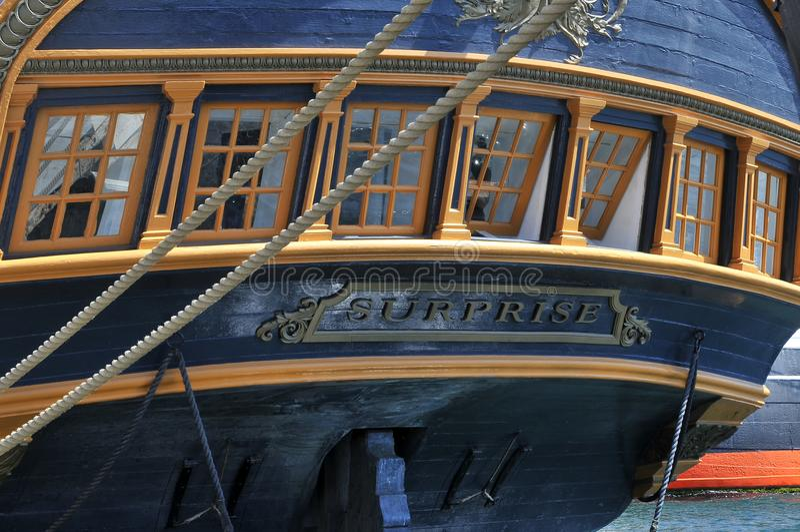 Частность сюрприза сосуда на морском музее в Сан-Диего стоковые изображения rf