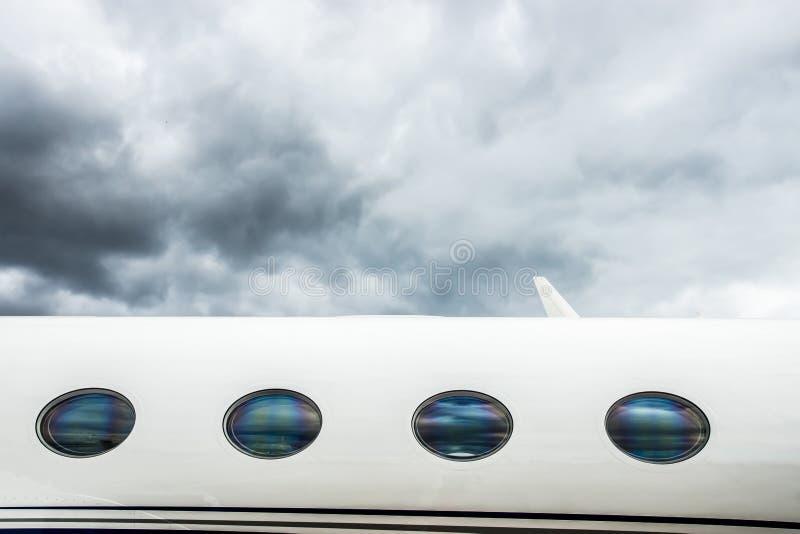 Частный самолет VIP стоковая фотография rf