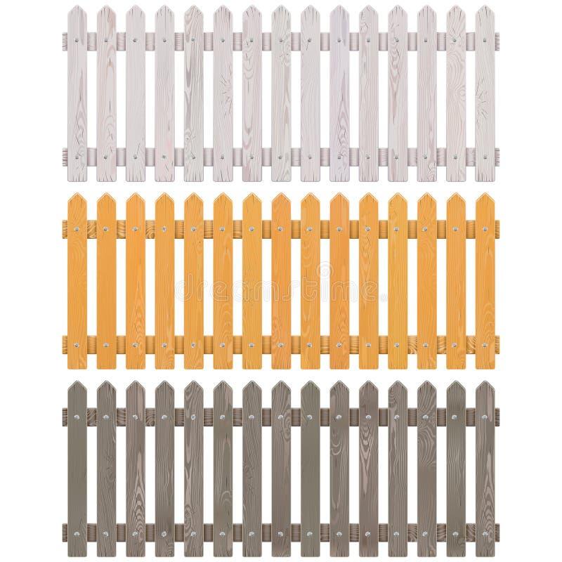 Частокол вектора деревянный бесплатная иллюстрация