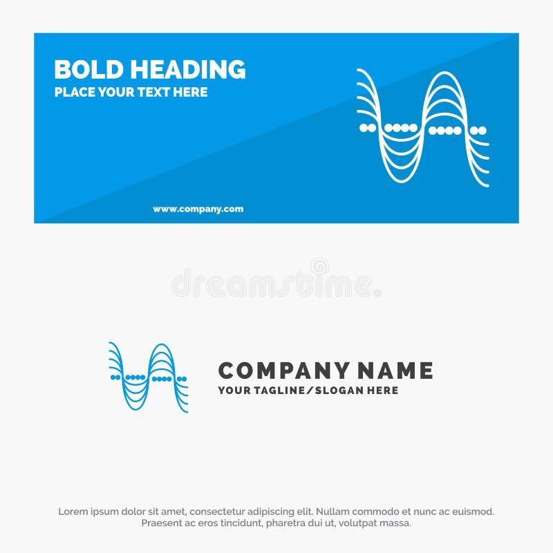 Частота, Герцы, тангаж, давление, ядровое твердое знамя вебсайта значка и шаблон логотипа дела иллюстрация штока