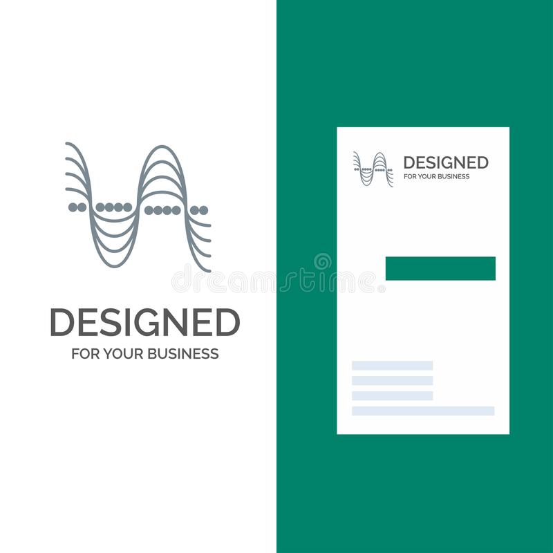 Частота, Герцы, тангаж, давление, ядровый серый дизайн логотипа и шаблон визитной карточки бесплатная иллюстрация