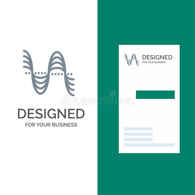 Частота, Герцы, тангаж, давление, ядровый серый дизайн логотипа и шаблон визитной карточки иллюстрация вектора