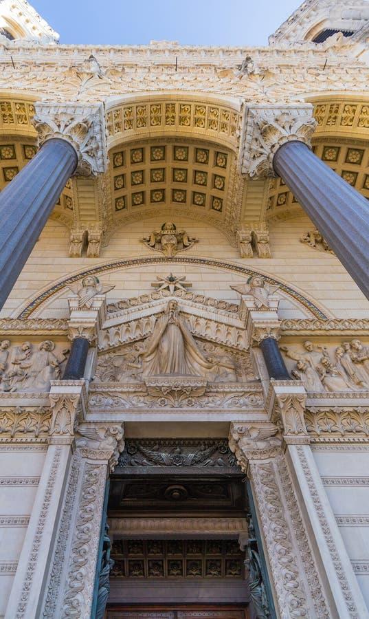 Часть базилики в Лионе Франции стоковое фото