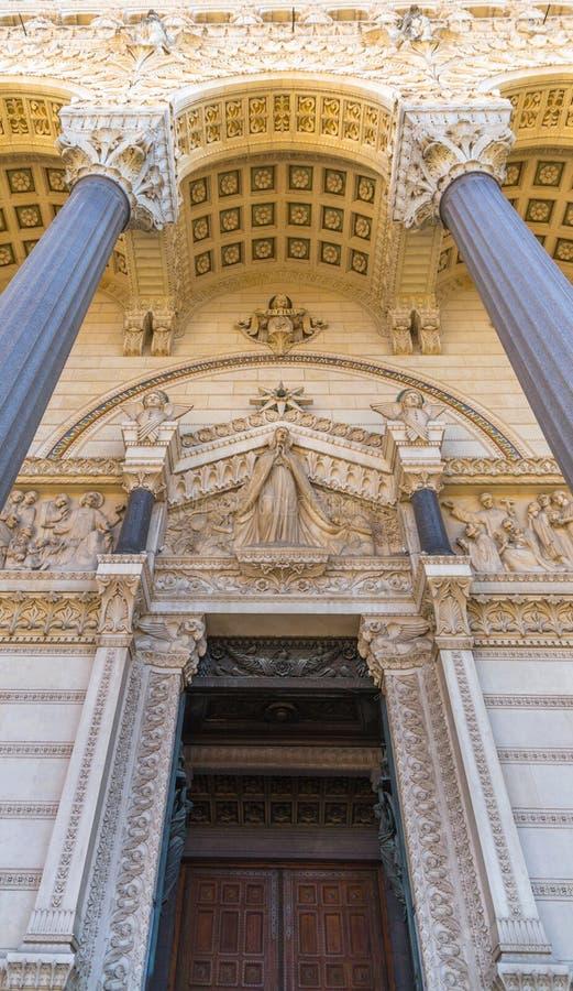 Часть базилики в Лионе стоковое фото